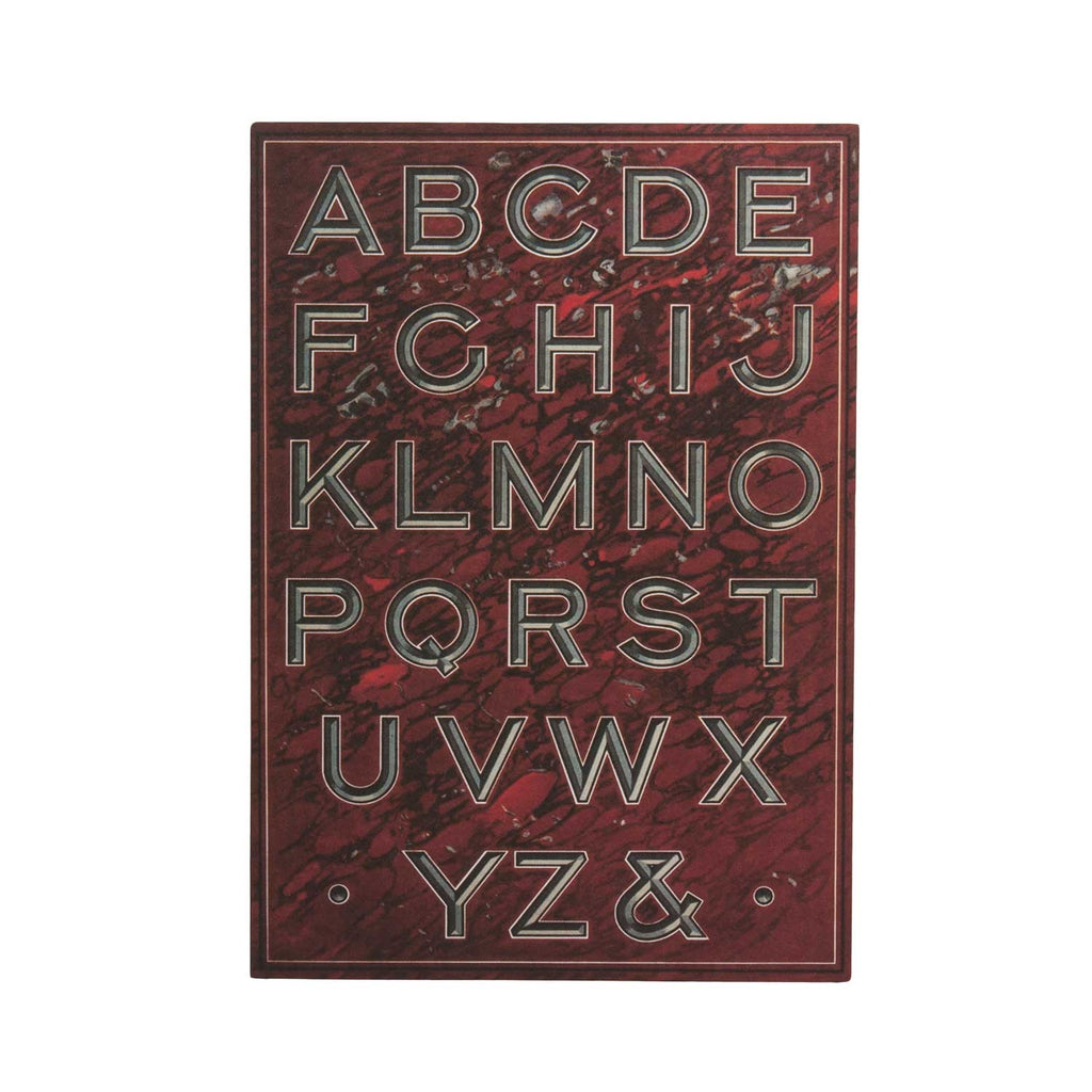 Fancy Letters Incised - Greeting Card