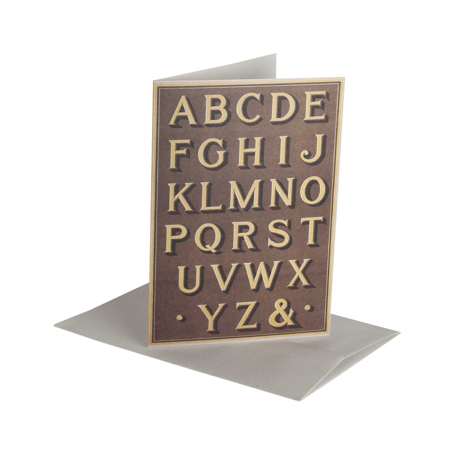 Fancy Letters Shadow - Greeting Card