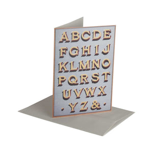 Fancy Letters Deep Shadow - Greeting Card