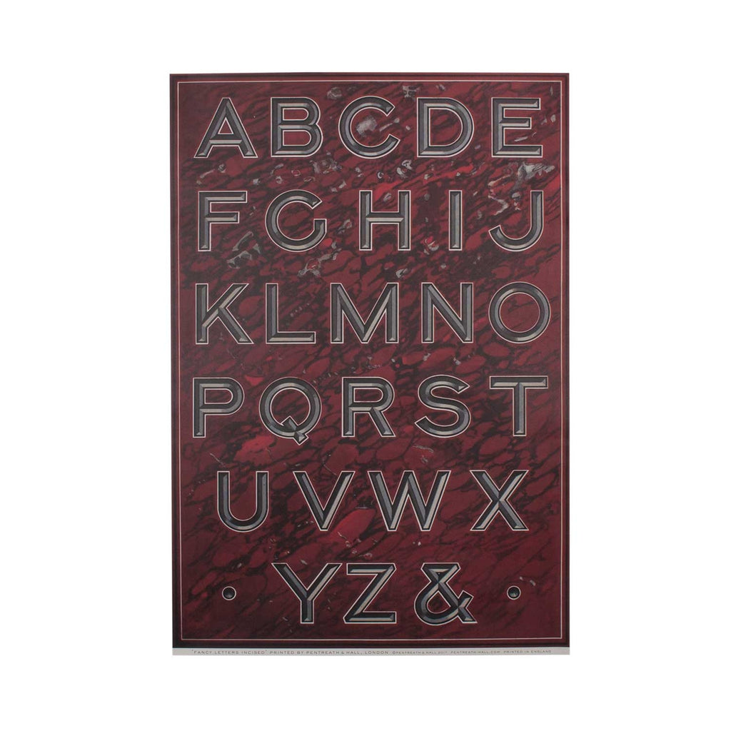 Fancy Letters Incised - Wrapping Paper