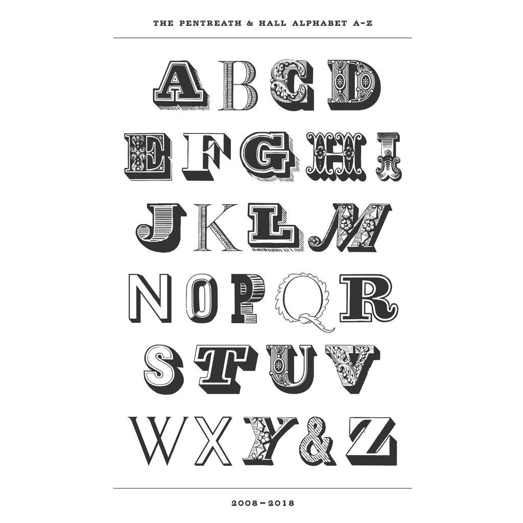 The Pentreath & Hall Alphabet Print