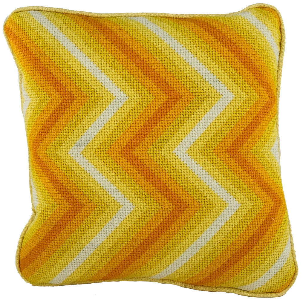 Zig-Zag Cushion - Yellow