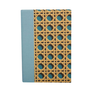 A6 Notebook Teal Regency Caning