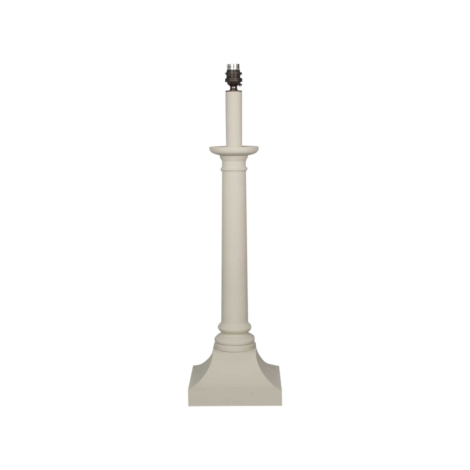 Turned Column Lamp Base - Off White