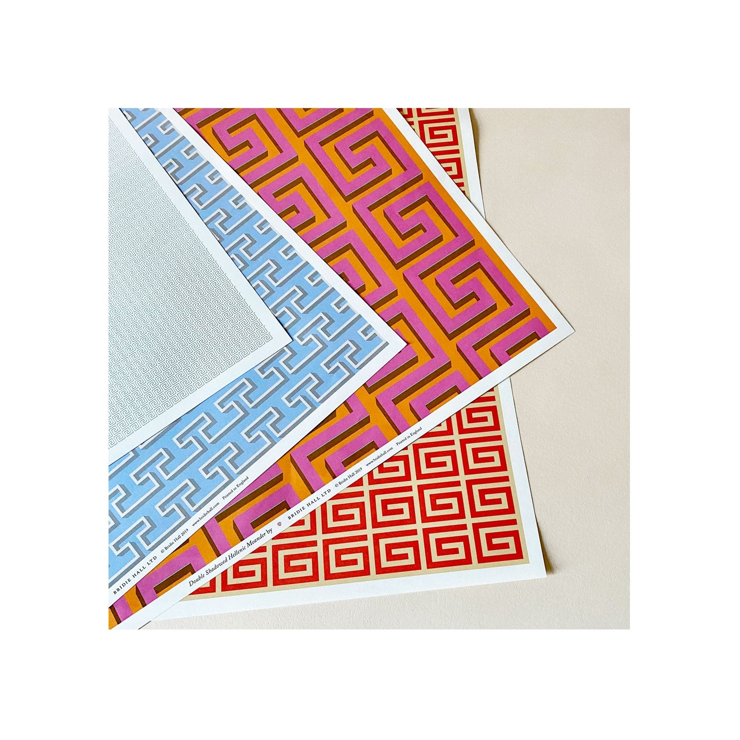 Greek Key Patterned Paper