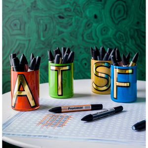 Alphabet Brush Pot - $