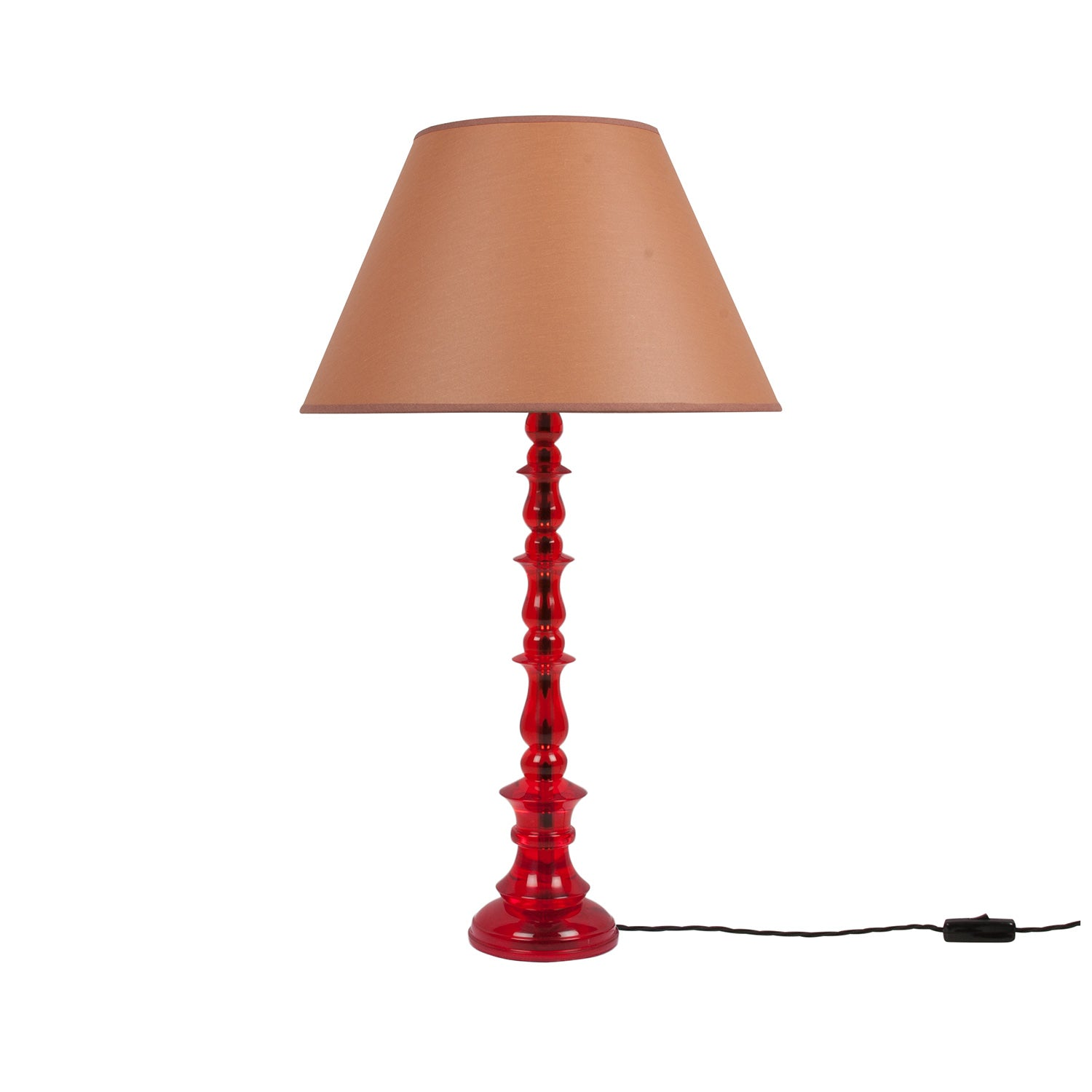 Spring Resin Lamp Red