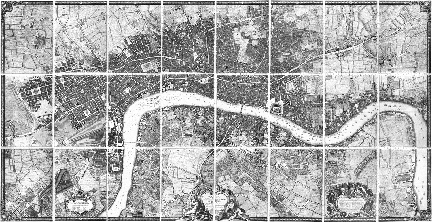 Rocque Plan of London, 1746.