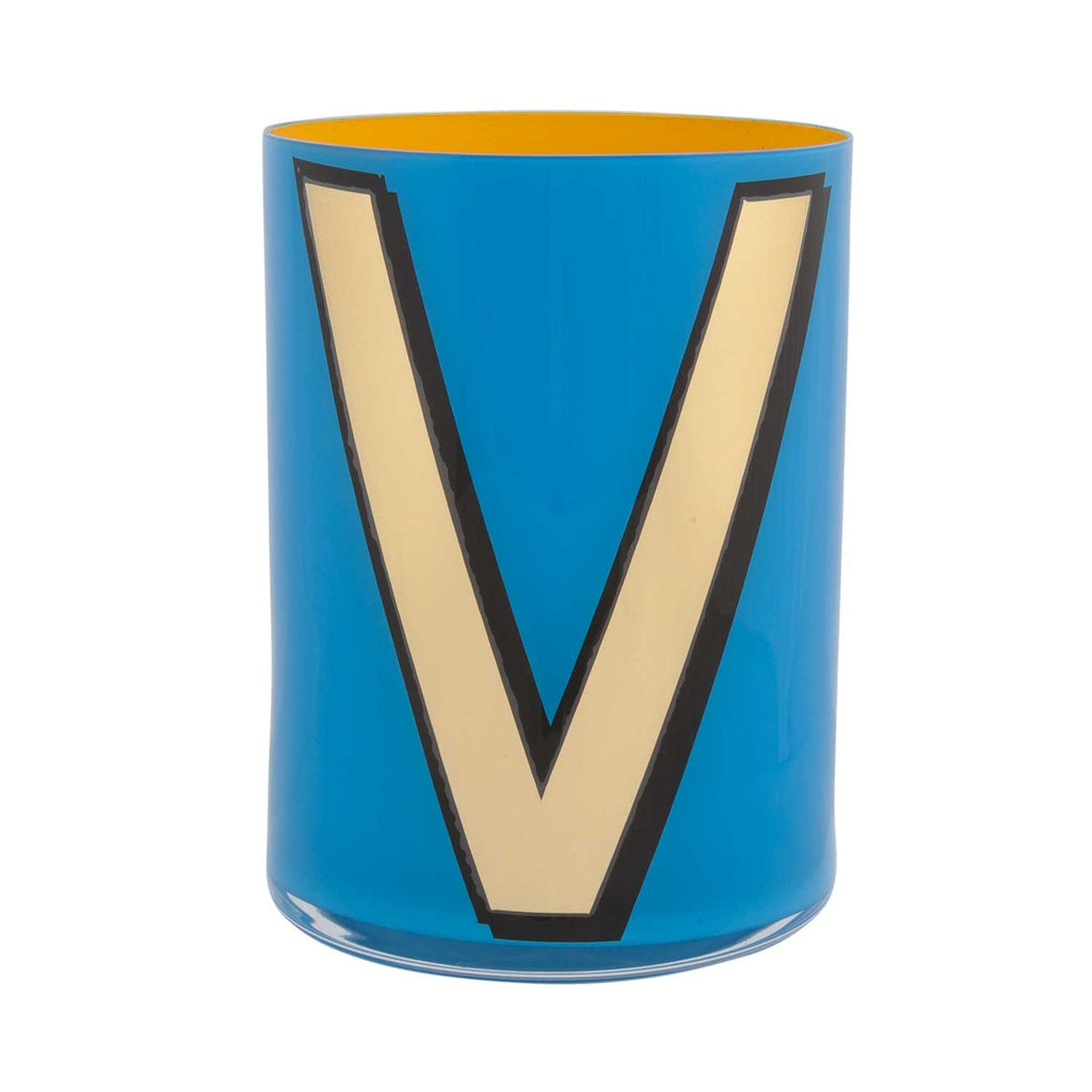 Alphabet Brush Pot - V