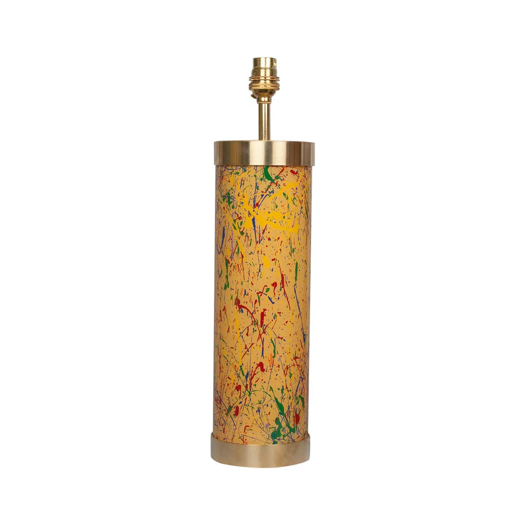 Glass & Brass Lamp End of Day Confetti - Yellow