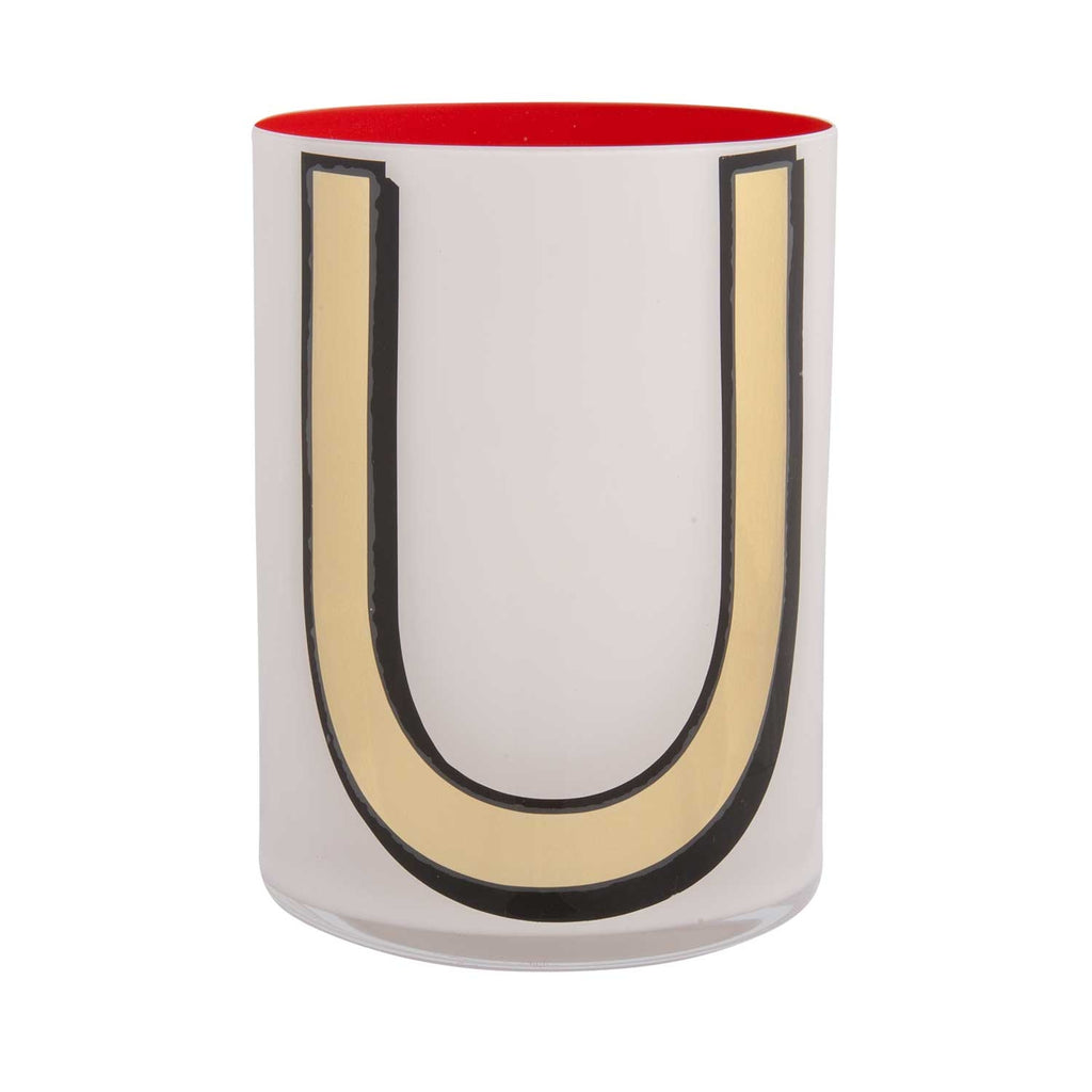 Alphabet Brush Pot - U
