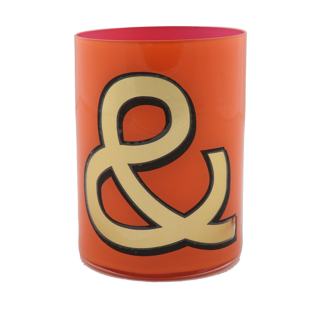 Alphabet Brush Pot - & ORANGE/PINK