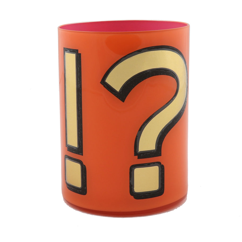 Alphabet Brush Pot - !? ORANGE/PINK