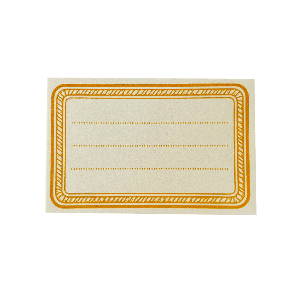 Yellow Rope Letterpress Bookplates - Set of 8