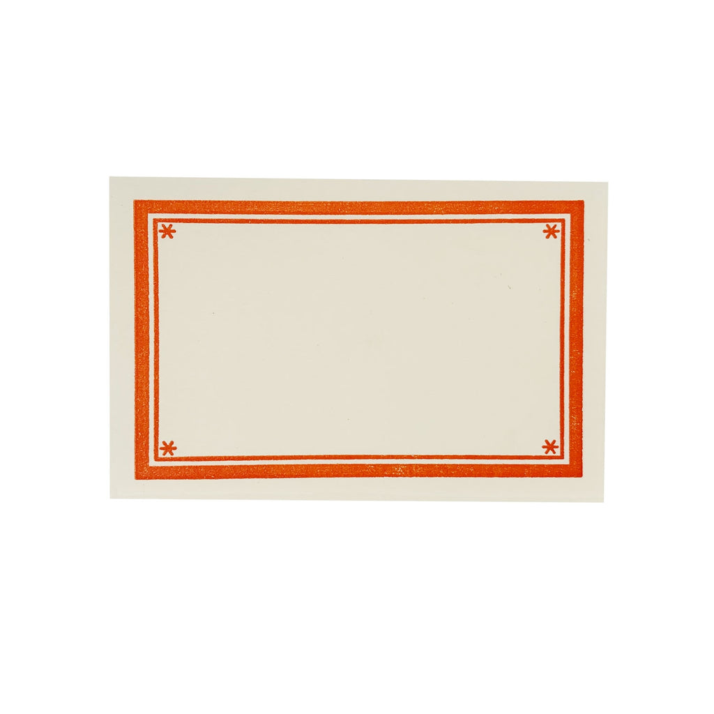Orange Star Letterpress Bookplates - Set of 8