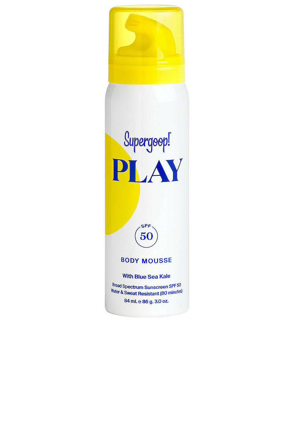 Supergoop - PLAY Body Mousse SPF 50 with Blue Sea Kale