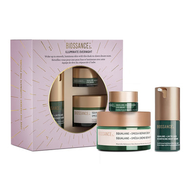 Biossance - Iluminate Overnight Set