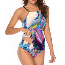 Load image into Gallery viewer, Octopus's Garden Halter Tankini
