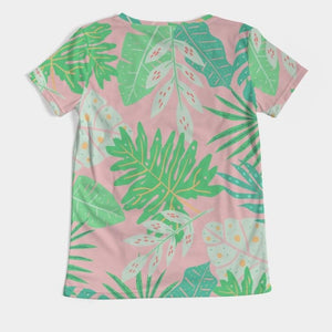 Aruba Palms V-Neck Tee
