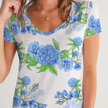 Load image into Gallery viewer, Vintage Floral Women's V-Neck Tee