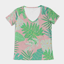 Load image into Gallery viewer, Aruba Palms V-Neck Tee