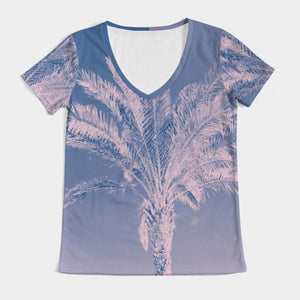 Miami Palms Women's V-Neck Tee