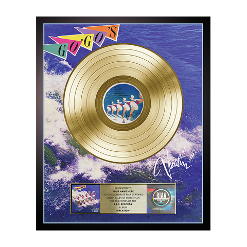 Personalized Vacation Gold Record