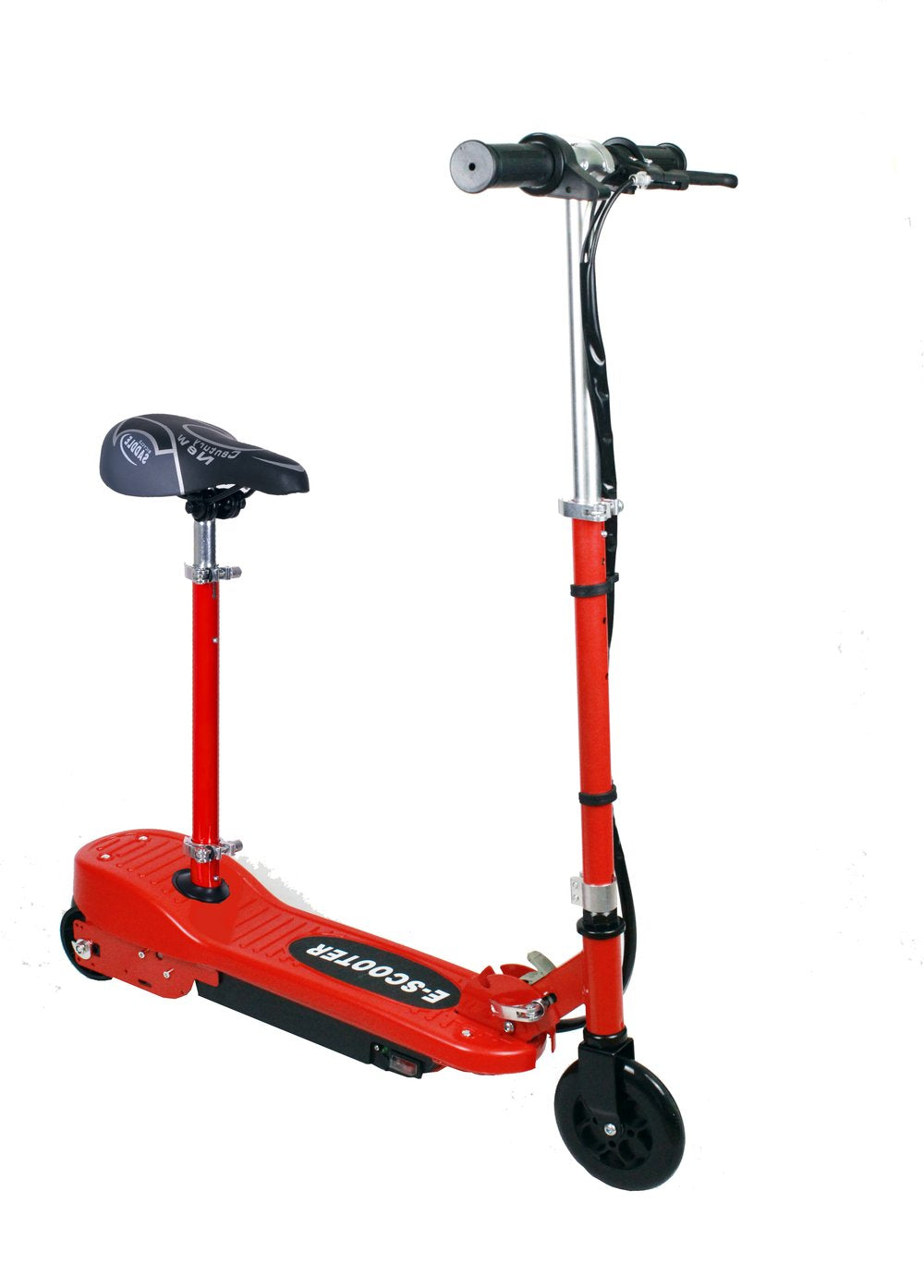 24V - Kids Folding Electric Scooter - Red - With Seat