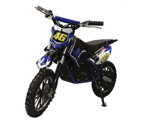 500W Kids Mini Electric Dirtbike - 2019 Model - Blue