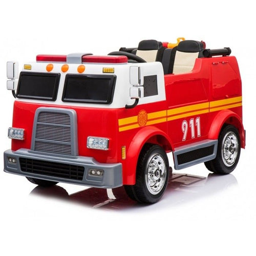 BIG 2 Seater - 12V Kids Electric Fire Engine - Ride On Toy