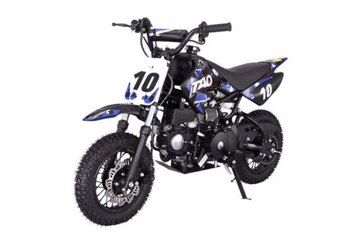 DB10 TAO USA -  KIDS 110CC Automatic Motocross - Dirt Bike - Blue