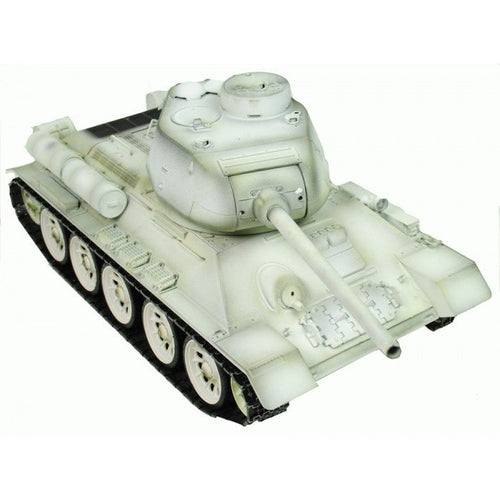 Full Metal - Taigen Hand Painted RC Tank T34/85 White Winter Camo - 2.4GHz