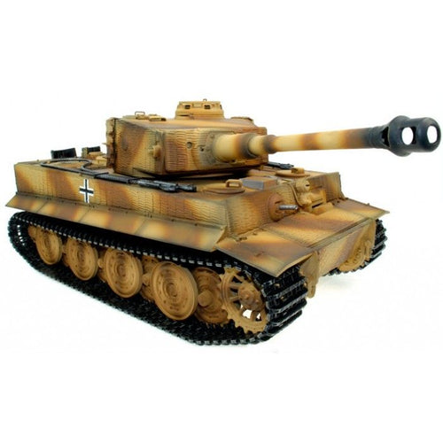 Full Metal Upgrade - Taigen Hand Painted RC Tank - Tiger Camo - 2.4GHz