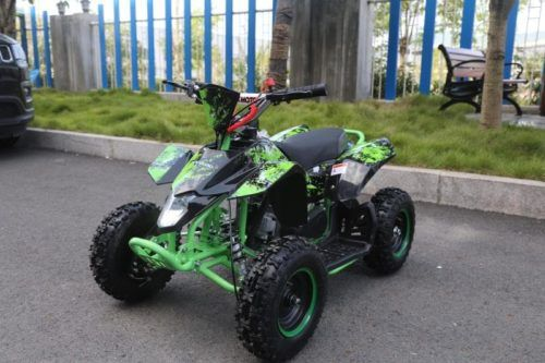 Hawkmoto Avenger 50cc Mini Kids Quad Bike  Green