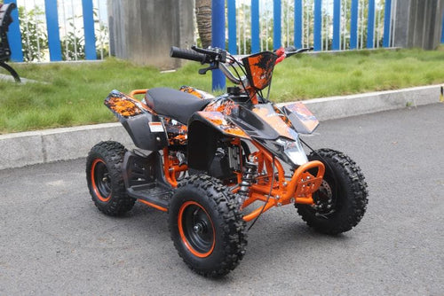 Hawkmoto Avenger 50cc Mini Kids Quad Bike  Orange