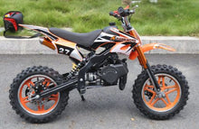 Load image into Gallery viewer, Hawkmoto Blaster 50cc Kids Mini Moto Scrambler Dirt Bike  ORANGE