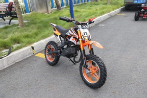Hawkmoto Blaster 50cc Kids Mini Moto Scrambler Dirt Bike  ORANGE