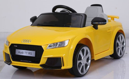 Licensed Audi TT RS - 12V Childrens Ride On Car -  With 2.4G Remote - Yellow