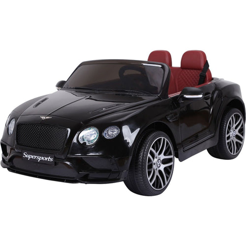 Licensed Bentley Continental Sports 12v Kids Electric Ride On Car - BLACK