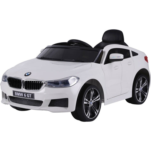 Licensed BMW GT - 12V Battery operated Ride on Car - White