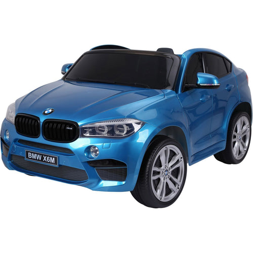 Licensed BMW X6M Two Seater Childrens Ride On Car - Blue