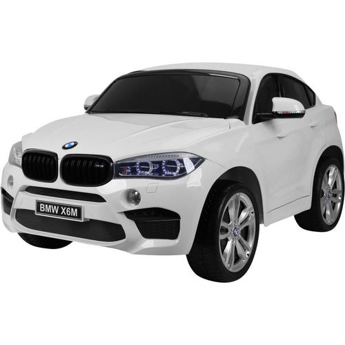 Licensed BMW X6M Two Seater Childrens Ride On Car - White