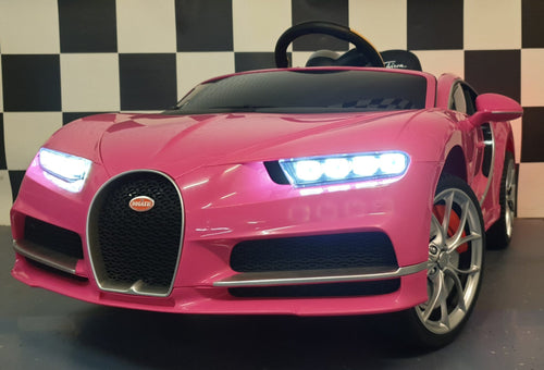 Licensed Buggati Chiron 12V Ride on Kids Electric Car With Remote Control - Pink