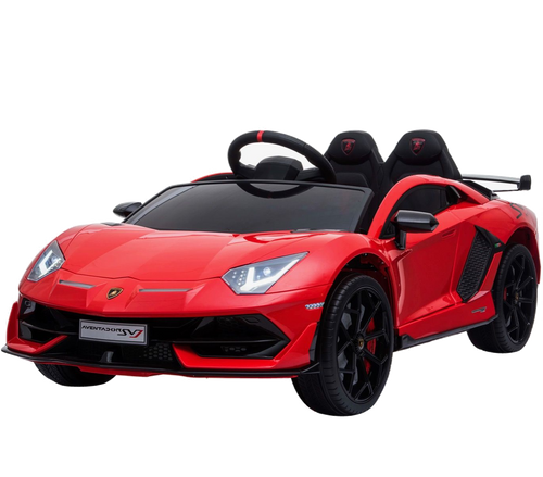 Licensed Lamborghini SVJ - 12V Childrens Electric Ride On Car - RED