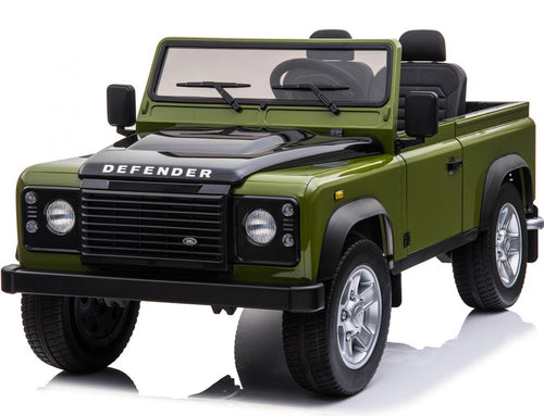 Licensed Land Rover Defender 24V* 4WD Ride On Pickup Style Jeep - Green