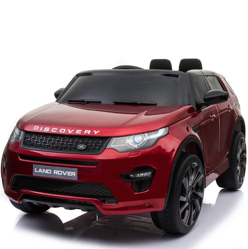 Licensed Land Rover Discovery 12V Ride On Battery Operated Jeep - Red