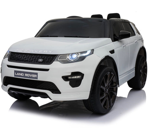 Licensed Land Rover Discovery 12V Ride On Battery Operated Jeep - White