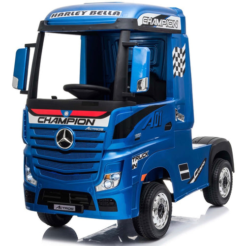 Licensed Mercedes-Benz Actros 4WD 24V* Ride On Lorry - METALLIC BLUE