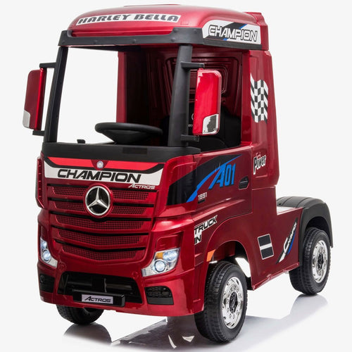 Licensed Mercedes-Benz Actros 4WD 24V* Ride On Lorry - METALLIC RED
