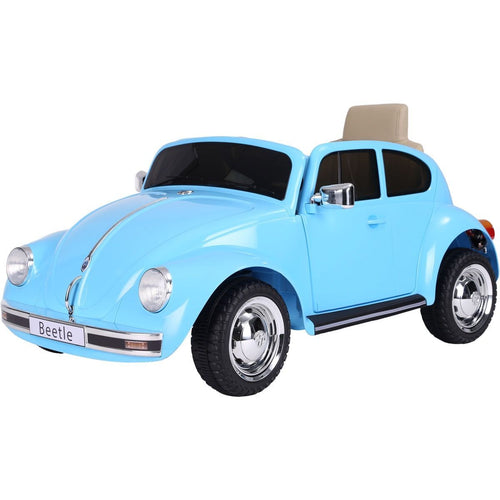 Licensed Retro Style VW Beetle Battery Operated 12V Ride On Car - Blue